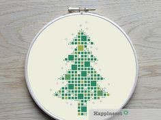 christmas cross stitch pattern, modern christmas tree blocks, modern cross stitch, PDF, ** instant download**