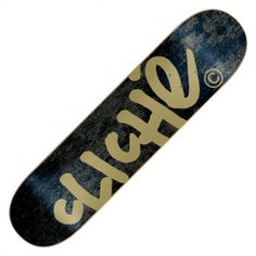 Board Cliché Handwritten classic black gold 7.9 pouces 49,00 € #cliche #clicheskateboard #skate #skateboard #skateboarding #streetshop #skateshop @PLAY Skateshop