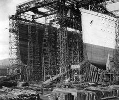 #andamios para la construcción del Titanic 1909 - 1912