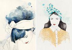 ilustrações femininas de moda -