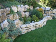 Image result for multi tier retaining wall with reclaimed wall