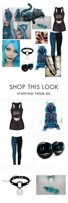 """Cheshire Cat costume"" by mattie-howard ❤ liked on Polyvore"