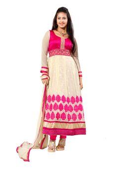 Beige #Embroidered Salwar #Suit