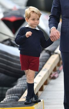 Prince George was dressed in his familiar shorts and long socks for the final day of the eight-day tour