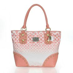 Coach Knitted Stud Medium Pink Satchels ERT [Coach0A1532] - $63 :