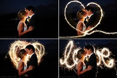 Wedding Sparklers Photoshop Overlays: Long Exposure by ElyseBear