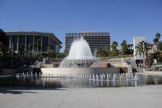 Grand Park fountain, downtown LA