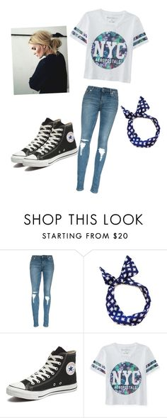""":)"" by foreverawesome123 on Polyvore featuring Converse, Aéropostale, women's clothing, women, female, woman, misses and juniors"