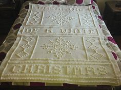 Dreaming of a white Christmas Afghan.