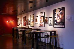 Naestved Cinema, Denmark. Partners Assistance: iGuzzini illuminazione Danmark #iGuzzini #Light #Lighting #Red #food #restaurant #design