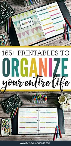 Getting organized just got easier! This printable planner is perfect for organizing your time daily weekly and monthly activities cleaning routine meal planning finances kids pets passwords contacts and more!