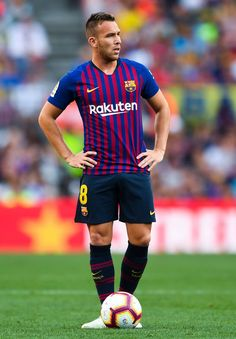 Arthur Photos - Arthur of FC Barcelona looks on during the Joan Gamper Trophy match between FC Barcelona and Boca Juniors at Camp Nou on August 2018 in Barcelona, Spain. - FC Barcelona v Boca Juniors - Joan Gamper Trophy Fc Barcelona, Camp Nou, David Ramos, Euro 96, Champions, Fifa World Cup, Soccer Players, Messi, August 15