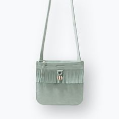 FRINGED LEATHER BAG WITH SHELL DETAIL-Handbags-Girl (3-14 years)-KIDS   ZARA Netherlands