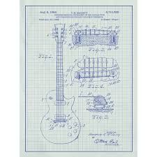 108 best guitar images on pinterest guitar chords guitar and gibson les paul guitar blueprint graphic art poster in white gridblue ink malvernweather Image collections