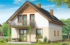Projekt domu Praktyczny A - wizualizacja tylna