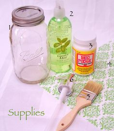 DIY soap dispenser (but use sea shells and maybe a turquoise blue soap color)