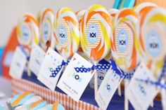 Surf's up + beach 1st birthday party idea via Kara's Party Ideas - www.karaspartyideas.com