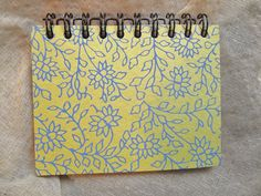 A Pretty NotebookReycled Paper  Floral Travel  Lime by Pinoodles, $9.00