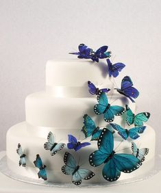 Butterfly Party Theme Ideas - DIY Cake Decorations - mazelmoments.com