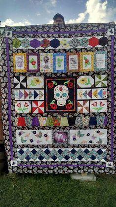 Sugar skull quilt