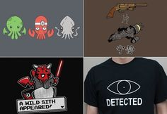 from FashionablyGEEK - could do the Chthulu in cross-stitch Geek Shirts, Geek Out, Fabric Art, Well Dressed, Cross Stitch, Nerd, Geek Stuff, Cosplay, Costumes