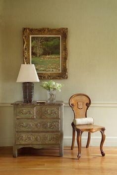 traditional living room vignette