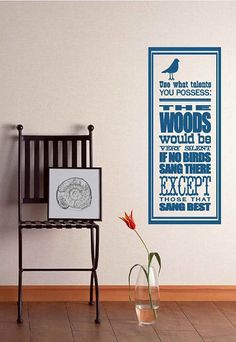 Large Use What Talents You Possess Vinyl Wall Decal. $25.00, via Etsy.