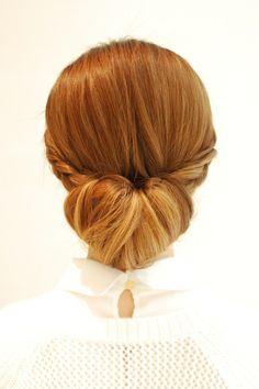 Hairstyles 2014 - low bun with braids - back | ヘアスタイル 2014 - 低めシニヨンアレンジ - バック (ヘアスタイリスト 前田 真吾)