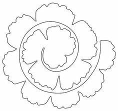carterie, pergamano et tableaux - Page 120 Rolled Flower Rolled Paper Flowers, Paper Flowers Diy, Handmade Flowers, Diy Paper, Paper Crafts, Free Paper, Paper Butterflies, Origami Flowers, Felt Flower Template