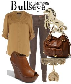 Bullseye (Toy Story) by DisneyBound Disney Inspired Fashion, Character Inspired Outfits, Disney Fashion, Pretty Outfits, Cute Outfits, Estilo Disney, Disney Bound Outfits, Fandom Fashion, Themed Outfits