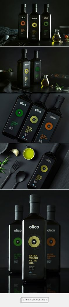 Olico Olive Oil packaging design by Aspa Chroneou / Brand Identity Design - http://www.packagingoftheworld.com/2018/02/olico-olive-oil-products.html