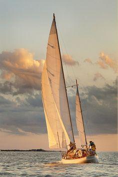 Wallpaper of boat & yacht sailing at the ocean and sea Yacht Boat, Sail Away, Set Sail, Wooden Boats, Belle Photo, Cape Cod, Sailing Ships, Ocean Sailing, Lighthouse
