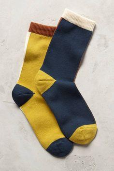 Mismatched Crew Socks - anthropologie.com