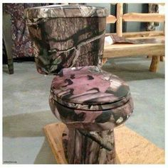 Nothing like a camo throne - thanks Mossy Oak