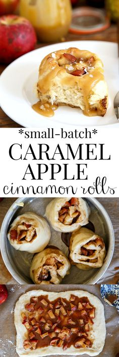 Apple Pie Cinnamon Rolls with Salted Caramel Sauce! I can't decide if this should be in apple desserts or in breakfast recipes. Sinful!