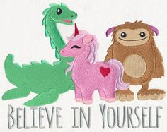 Believe in Yourself - Thread List   Urban Threads: Unique and Awesome Embroidery Designs