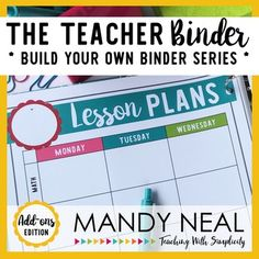 **Updated for 2017-2018** Everything you need to stay organized for the entire year is right here. From lesson planning templates, calendars, classroom forms, and K-6 Common Core checklists for both Math and ELA will be at your fingertips.