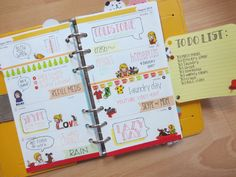 week 32- filofax yellow original (odong et valerie)