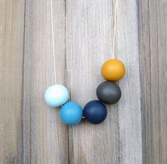 Handmade round beads Necklace. €24.00, via Etsy.
