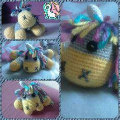 Mini unicornio crochet