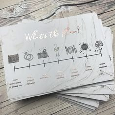 "183 Likes, 14 Comments - Polka Dot Paper (@polkadotpaper) on Instagram: ""Loved designing this little timeline for V & S who chose the Marble Rose Gold collection for their…"""