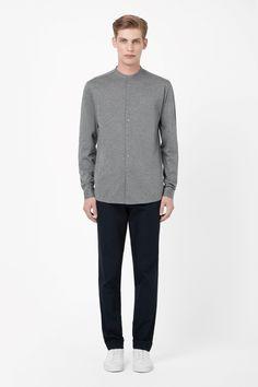 COS | Collarless jersey shirt