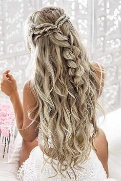 10 pretty braided hairstyles for the wedding - wedding hairstyles with long . - 10 pretty braided hairstyles for the wedding – wedding hairstyles with long hair – - Pretty Braided Hairstyles, Cool Hairstyles, Hairstyle Ideas, Elegant Hairstyles, Hair Ideas, Hairstyles 2018, Gorgeous Hairstyles, Latest Hairstyles, Prom Hairstyles For Long Hair Half Up
