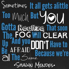shawn mendes lyrics - Buscar con Google