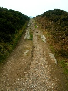 Remains of old tramway, Dartmoor