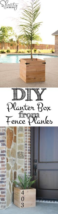 Cedar Planter Box Super easy and inexpensive DIY Planter Boxes from fence material!Super easy and inexpensive DIY Planter Boxes from fence material! Home, Diy Planters, Diy Cedar Planter Box, Front Yard, Outdoor Decor, Diy Outdoor, Cedar Planters, Shanty 2 Chic, Outdoor Living
