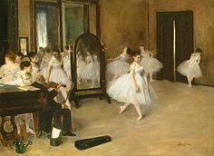 """""""Tanzklasse"""" (um 1871) von Edgar Degas (geboren am 19. Juli 1834 in Paris, gestorben am 27. September 1917 in Paris), französischer Maler und Bildhauer."""