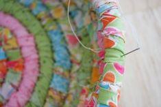 tut for fabric easter basket using basket weaving technique, but i'm gonna make a rug!