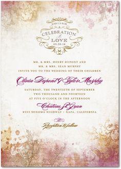 ROMANTIC REGENCY : RASPBERRY http://www.weddingpaperdivas.com/product/10728/signature_white_textured_wedding_invitations_romantic_regency.html#