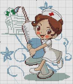 Ponto cruz enfermagem Cross Stitch Boards, Cross Stitch Baby, Cross Stitch Alphabet, Cross Stitching, Cross Stitch Embroidery, Cross Stitch Designs, Cross Stitch Patterns, Pixel Pattern, Needlepoint Patterns